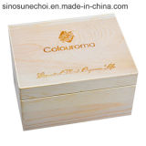 적포도주를 위한 6 병에 넣어진 소나무 나무로 되는 선물 상자를 인쇄하는 주문 로고