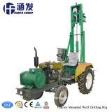 Tractor montado HF100t Portable pozo de agua de perforación para la venta