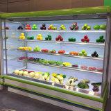 Affichage de fruits Commercial Open avec double rideau d'air du refroidisseur