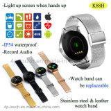Wristwatch спорта Bluetooth способа Mtk2502c франтовской с IP54 делает K88h водостотьким