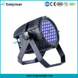 DMX de alta potencia 36*3W LED UV para la etapa de Luz PAR