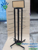 Cremagliera di visualizzazione rotativa della medaglia del nastro metallico con l'amo, cadute di vibrazione di filatura/Keychain/banco di mostra dei guanti