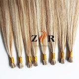 Pelo indio de la Virgen de la extensión del pelo humano de la extremidad del pelo I/Stick del Zr
