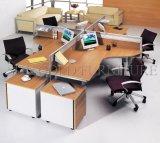 La moderna estación de trabajo de forma redonda de la estación de trabajo de madera para 4 personas (SZ-WS332)