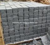 Камень естественного черного базальта G654 вымощая