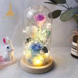 Сохранить цветы роз в стекле для проведения свадеб Рождественский День Благодарения День Святого Валентина