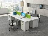 4 Seater 컴퓨터 테이블 작은 공간 (HF-KD05)를 위한 선형 사무실 워크 스테이션