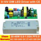 programa piloto aislado Dimmable de la luz del panel de 30-46W 0-10V LED con el Ce QS1204