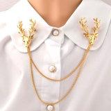 Pin del Brooch dei Antlers placcato oro di modo di VAGULA
