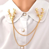 Pin Brooch Antlers способа VAGULA покрынный золотом