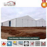 O alumínio claro grande armazém tenda