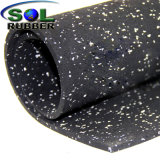 Ce revêtement de sol certifié imperméables en caoutchouc du rouleau de tapis de gym