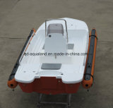 Peschereccio di salvataggio di Aqualand 13feet 4m della barca della nervatura gonfiabile rigida della vetroresina/barca di fiume (RIB400)