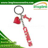 Porte-clés en argent plaqué pour les amoureux