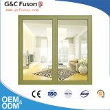 Finestra di vetro di alluminio orizzontale di scivolamento del blocco per grafici della finestra di scivolamento