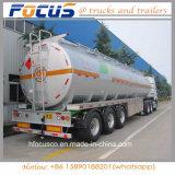 Semi-remorque en aluminium de camion-citerne aspirateur d'essence d'essieux du certificat 3 de POINT d'effet adverse du médicament