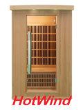 2015 Habitación Sauna Hemlock de Infrarrojo Lejano con Calentador de Cerámica Fábrica de Sala de Sauna