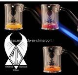2018 nova plaqueta térmica de foguetes de vidro de quartzo com Areias Coloridas