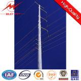 acero eléctrico poste de la transmisión 69kv y de la distribución