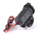 Wasserdichter Motorcycle Handbar USB Scoket Power Phone Charger mit 60 cm Line Length Send 2PCS Fuse als Gift