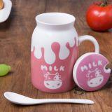 taza modificada para requisitos particulares taza de cerámica promocional de la leche de la porcelana de la leche 16oz