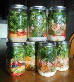 Variété choc en verre de nourriture de maçon de mémoire de sucrerie/miel/sauce de forme ronde de taille de grand