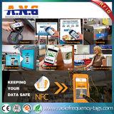 13.56MHz 둥근 Ntag213 읽기/쓰기 NFC 스티커