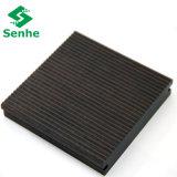 Suelo de bambú al aire libre del Decking de la superficie pequeña/fina de la onda