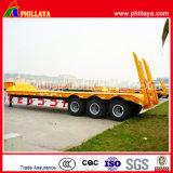 Concaved Lowbed Truck semi reboque 50t Transporte Escavadeira Carregadeira baixa