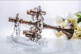 Держатель для свечи бронзового украшения венчания Clolor стеклянный с плакатом 5