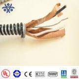 UL 1569 Mc 600V Cable Thhn conductores de cobre/Thwn-2 como elemento interior de acero galvanizado Interlocked Armor Cable Metálico