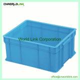 Gran volumen sólido de plástico de HDPE de apilamiento de caja de transporte