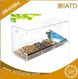 Cas d'exposition acrylique clair de mémoire d'organisateur d'étagère pour l'aliment pour animaux familiers/le câble d'alimentation/chaussure/basket-ball/football/écouteur d'oiseau
