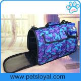 Fabricante de viajes Bolsa de portátil de cachorro de gato portador de Pet de cuero