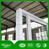 Окно PVC хозяйственного стекла конструкции одиночного ясного сползая