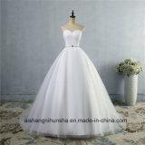 A - Zeile Ausschnitt-reizvolles Backless Hochzeits-Kleid-Spitze-Hochzeits-Kleid