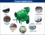 Equipamento de construção Diesel do misturador concreto de alimentação de mão com funil hidráulico
