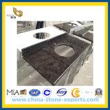 Countertop van het Graniet van Angola Bruine voor Keuken en Badkamers