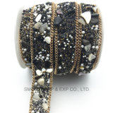 형식 최신 고침 모조 다이아몬드 테이프 트리밍 결혼 예복 의복 부속품