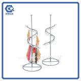 Розничный выдвиженческий стеллаж для выставки товаров шарфа вращения