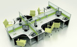 Мода 6-местный прямой Управление разделами рабочей станции с металлические штыри (HF-YZ033)