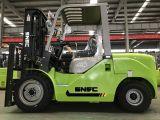 一人乗り二輪馬車のElevateurのディーゼル4トンの煉瓦クランプフォークリフト