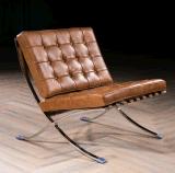 Qualitäts-Weinlese-Leder-Barcelona-Stuhl