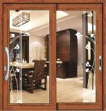 2017 Новый интерьер из дерева цвета алюминия стекла боковой сдвижной двери