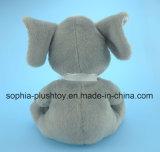 Brinquedo de elefante de pelúcia macia e cheia de crianças