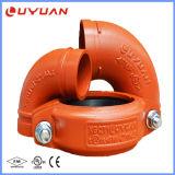 Accessori per tubi ed accoppiamenti scanalati ferro duttile di ASTM a-536 con il Ce dell'UL di FM