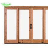 Hölzernes Korn Belüftung-Flügelfenster-Fenster mit Gummidichtung
