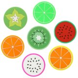 Fruit Cup Mats Nouveauté Jelly Color Silicone Super Cute Coasters