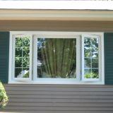 Qualitäts-weißes Aluminiumprofil-Flügelfenster eingehängtes Fenster