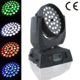 36X18W RGBWA+UV 6in1 bewegliches Hauptlicht des Wäsche-Summen-Träger-LED